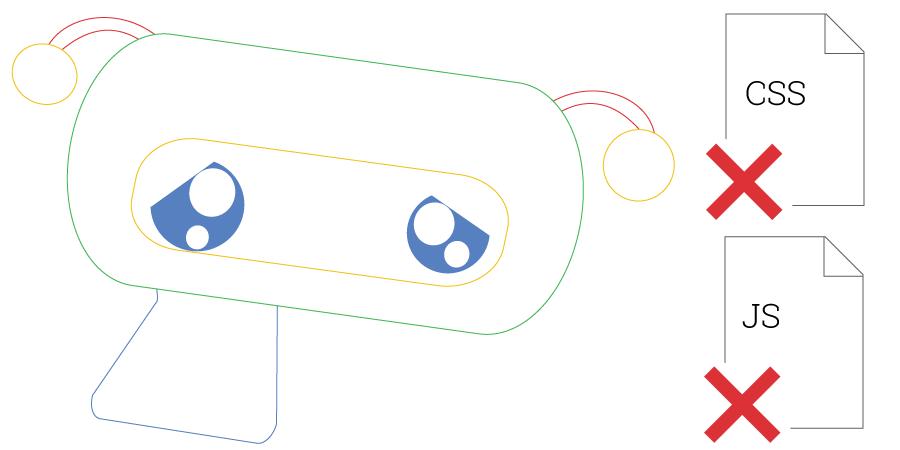 فایل های js و css در robots.txt