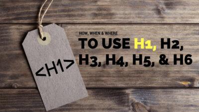 تگ H1 و H2