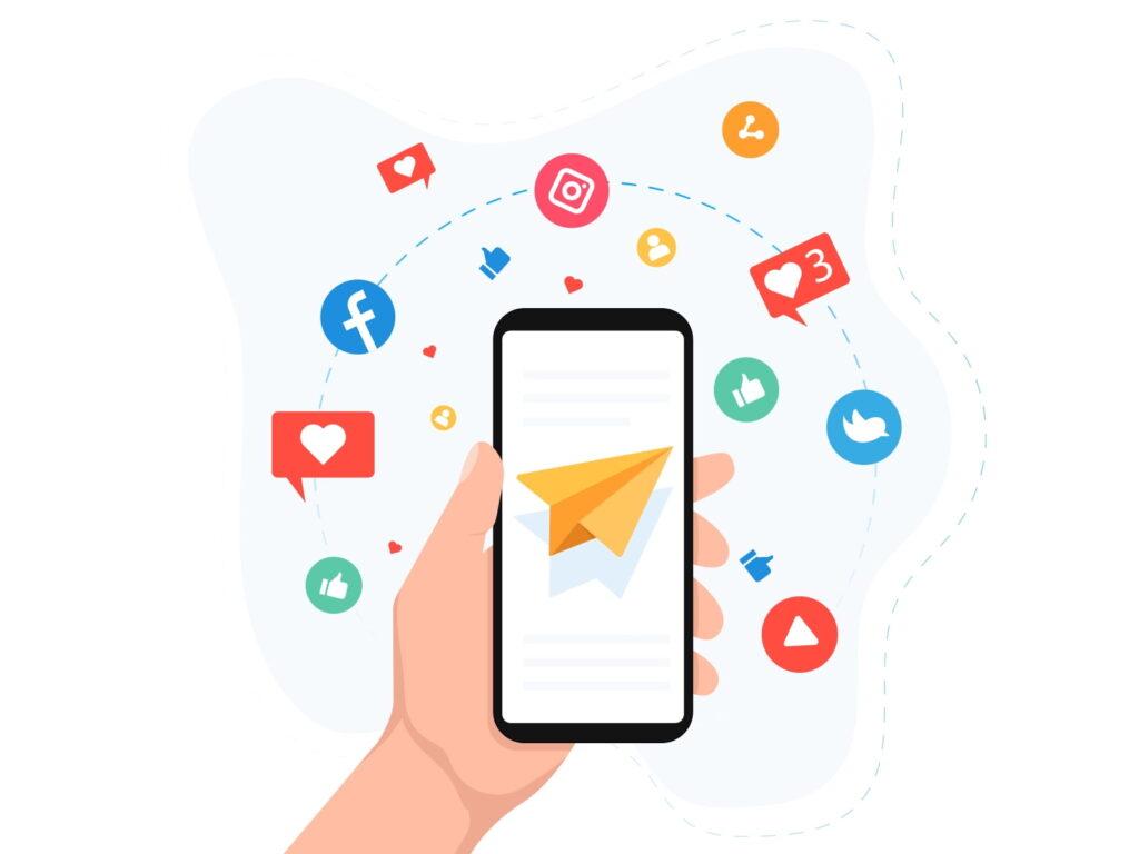 استفاده از شبکه های اجتماعی در تولید محتوا